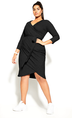 City Chic Lounge About Dress - black