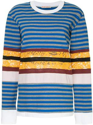 Marni striped longsleeved T-shirt