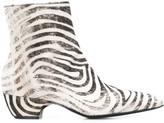 Premiata zebra ankle boots