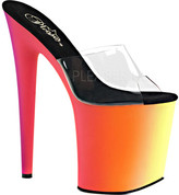 Pleaser USA Women's Rainbow-801UV Neon Platform Slide