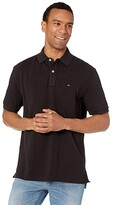 Tommy Hilfiger Ivy Polo Shirt Classic Fit (Classic Deep Knit Black) Men's Clothing