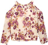 Lucky Brand Alicia Floral Cold Shoulder Top (Big Girls)