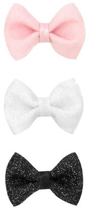 PLH Bows 3-Pack Glitter Tulle Bow Hair Clips
