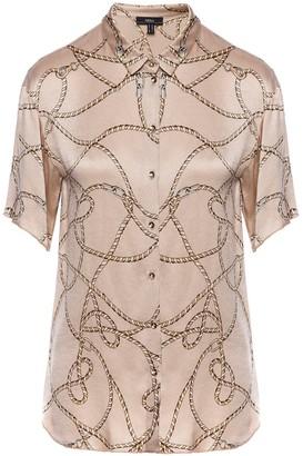Nissa Satin Short Sleeve Shirt