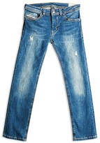 Diesel Boys' Thanaz Slim Distressed Jeans - Sizes 4-16