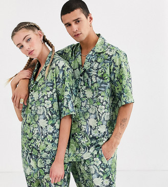 Reclaimed Vintage unisex floral shirt two-piece