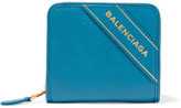Balenciaga Textured-leather Wallet - Blue