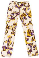 Dolce & Gabbana Floral Print Straight-Leg Pants