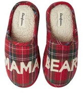 Charter Club Womens Holiday Lane Scuff Slippers with Memory Foam Insoles Cardinal Print