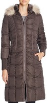 T Tahari Elizabeth Faux Fur-Trim Long Puffer Coat