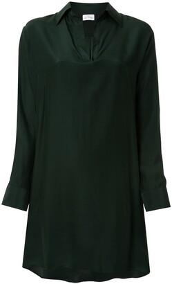 POUR LES FEMMES Asymmetric Shirt Dress