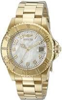 Invicta Women's 21533SYB Pro Diver Analog Display Swiss Quartz Gold-Plated Watch