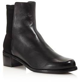 Stuart Weitzman Women's Easyon Reserve Leather & Neoprene Block-Heel Booties