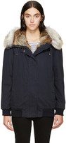 Yves Salomon Army by Navy Fur-Trimmed Bomber Jacket