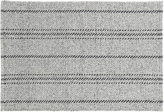 Dash & Albert Melange Stripe Indoor/Outdoor Rug - Gray/Black 5'x8'