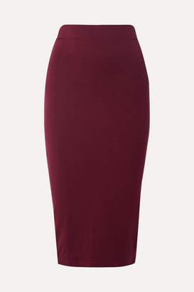 Ninety Percent Stretch-tencel Midi Skirt - Burgundy