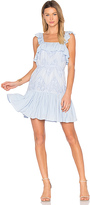 Aijek Maria Flutter Sleeve Dress in Blue. - size 3/L (also in )