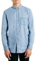 Topman Slim Fit Washed Denim Shirt