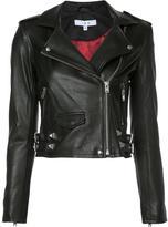 IRO cropped biker jacket - women - Lamb Skin/Polyester - 34