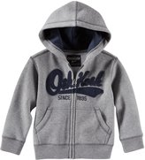 Osh Kosh Logo Fleece Hoodie (Baby) - Heather-12 Months