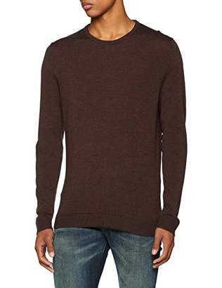 Selected Men's Slhtower Merino Crew Neck B Noos Jumper,X