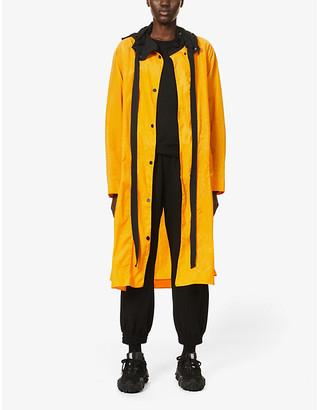 McQ Genesis II hooded crinkled shell parka coat