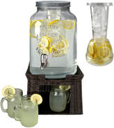 Artland Oasis Beverage Dispenser With Set Of 6 Mason Jars