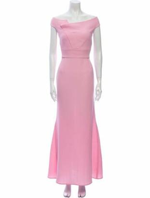 Roland Mouret Bateau Neckline Long Dress Pink