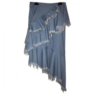 Marques Almeida Blue Cotton Skirt for Women