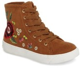 Sam Edelman Girl's Harriet Embroidered High Top Sneaker