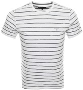 Barbour Dealewood Stripe T Shirt White