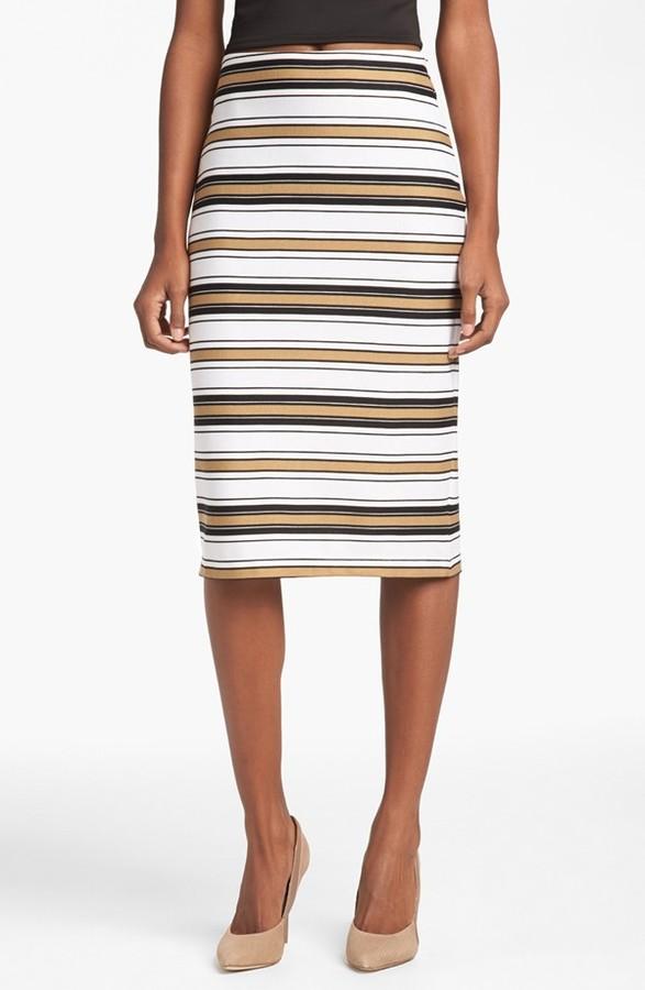WAYF Stripe Tube Skirt