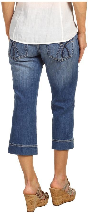 Jag Jeans Petite - Petite Carina Crop in Lazy Blue (Lazy Blue) - Apparel