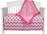 Bacati Chevron and Dots 4-in-1 100% Cotton Baby Crib Bedding Set
