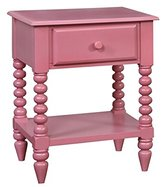 Furniture of America Epperson 1 Drawer Nightstand in Pink