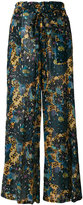 Raquel Allegra flared floral print trousers