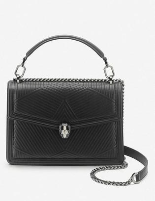Bvlgari Serpenti Diamond Blast quilted leather shoulder bag