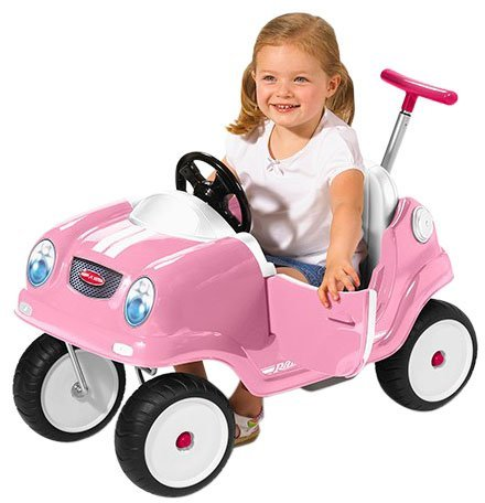 Radio Flyer Steer & Stroll Coupe - Pink