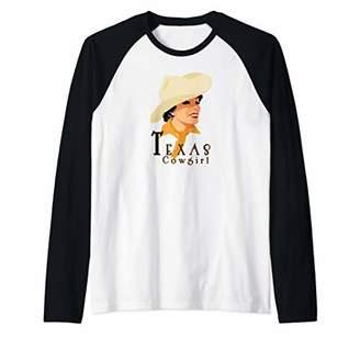 TEXAS COWGIRL A great design for pretty Texas Ladies! Raglan Baseball Tee