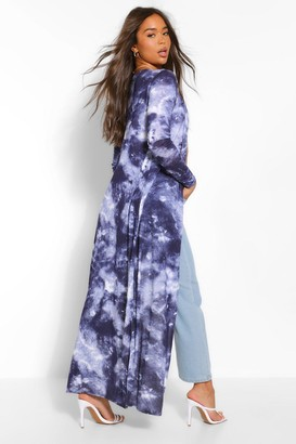 boohoo Tie Dye Maxi Kimono