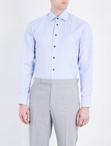 Eton Houndstooth contemporary-fit cotton shirt