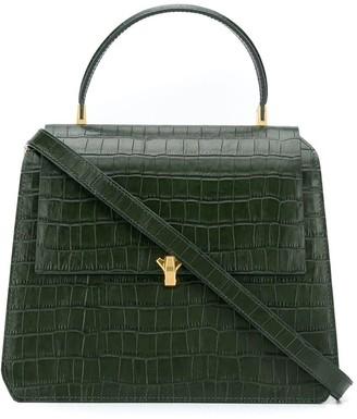 THE VOLON Crocodile Embossed Tote Bag