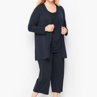 Talbots Knit Jersey Flyaway Cardigan