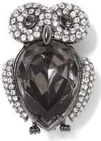 Banana Republic Jeweled Owl Brooch