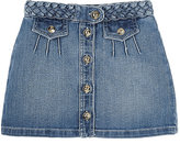 Chloé Stretch-Cotton Denim Skirt-BLUE