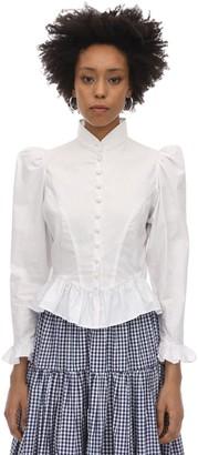 Batsheva Grace Cotton Poplin Blouse