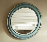 Pottery Barn Antiqued Painted Round Mirror