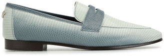 Bougeotte Flaneur lizard skin effect loafers