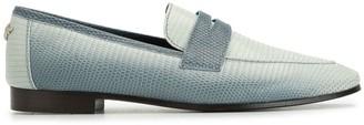 Bougeotte Flaneur lizard skin effect loafers