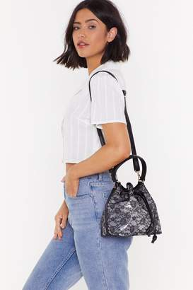Nasty Gal Womens Want The Lace Is On Shoulder Bag - Black - One Size